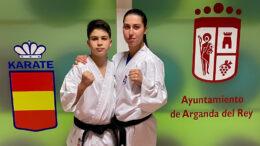 En la imagen, Carlos y Carmen Heras del Club Iván Leal de Kárate.
