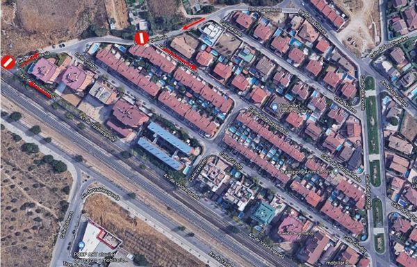 Avenida de Valdearganda cortada al tráfico